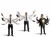 picture of multitasking  - Businessperson that to solve problems become multitasking - JPG