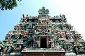 stock photo of meenakshi  - Sri Meenakshi Amman Temple Entrance - JPG