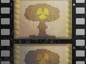 picture of nuke  - reel of film with the frame of a nuclear explosion - JPG