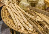 image of handicrafts  - image of thailand bamboo toys handicraft  - JPG