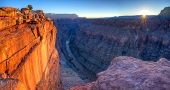 stock photo of grand canyon  - Sunrise at Toroweap Point in Grand Canyon National Park - JPG