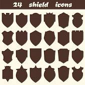 foto of shield  - 24 shield icons - JPG