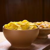 pic of plantain  - Bowls of salty  - JPG