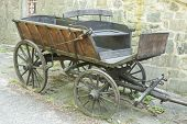 stock photo of wooden horse  - It is image of old wooden horse wagon - JPG