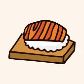 picture of high calorie foods  - Fast Food Sushi Flat Icon Elements - JPG