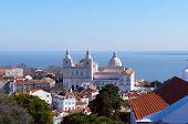 stock photo of cupola  - Monastery of Sao Vicente de Fora and Church of Santa Engracia cupola - JPG