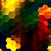 stock photo of peppy  - Colorful hexagon mosaic - JPG