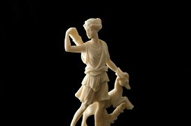 stock photo of artemis  - a staue of the greek goddess Artemis - JPG
