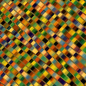 stock photo of pixel  - Optical illusion mosaic - JPG