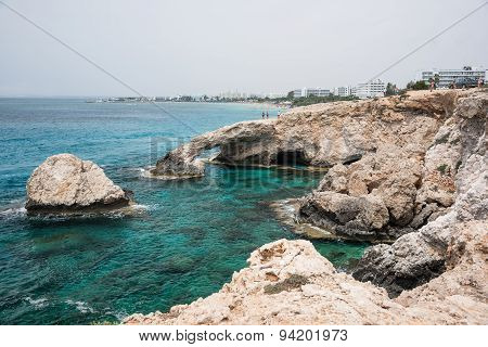 Rocky Cliff With Stone Arch, Ayia Napa, Cyprus
