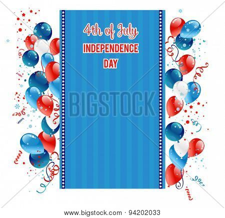 Independence day card design for advertising, leaflet, cards, invitation and so on.