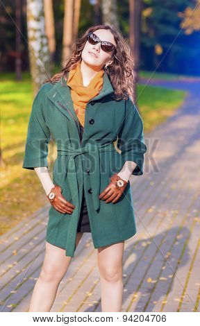 Trendy And Fashionable Caucasian Brunette Female Model