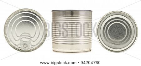Metal can isolated