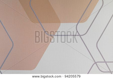 Regular Geometric Fabric Texture Brown Background, Cloth Pattern