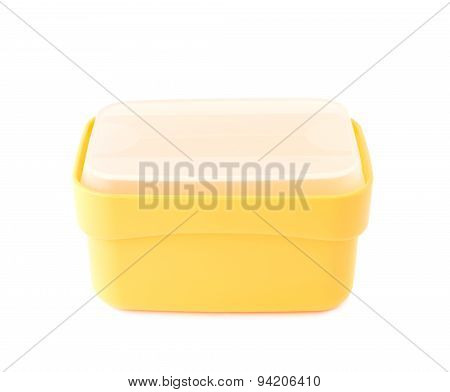 Plastic tableware food container isolated