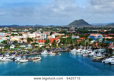 Marina on a tropical island.