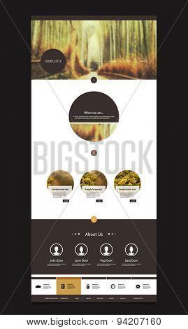 One Page Website Template with Nice Header Design - Bamboo Forest