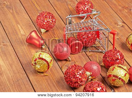 Christmas shopping composition