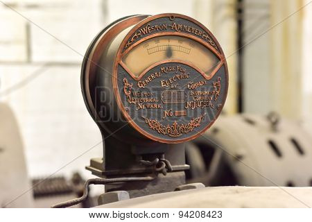 Antique Weston Ammeter In Grand Central - New York