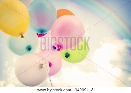 vintage colorful balloon