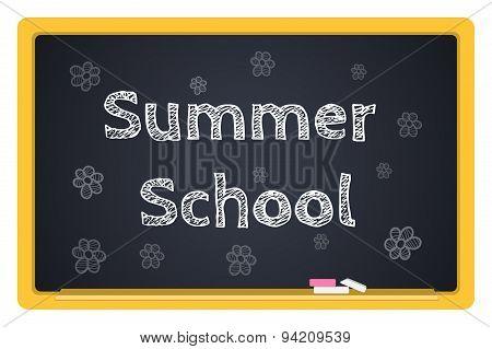 Vector Blackboard Stationery Summer School