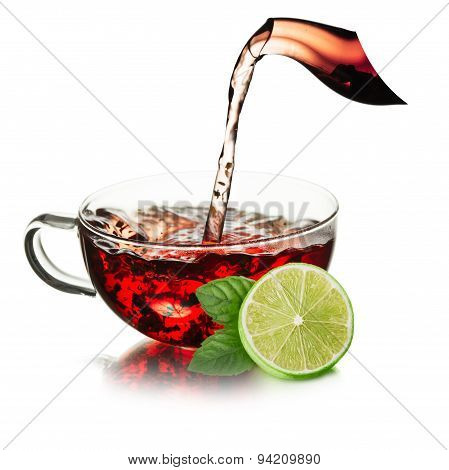 Cup Of  Tea With Splash