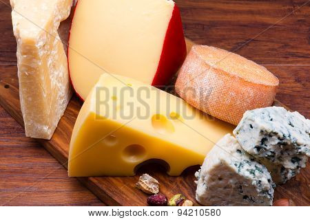 Cheeses On Cheese Board