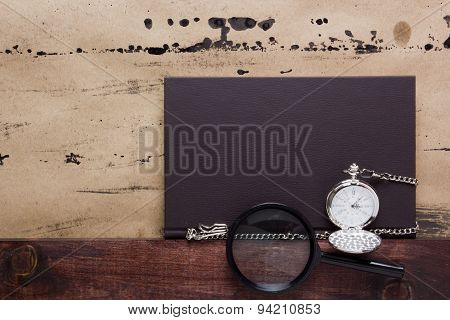 Old Damaged Background With A Book