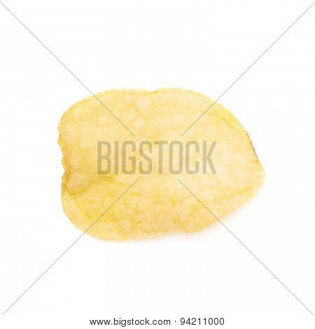 Yellow potato chips isolated