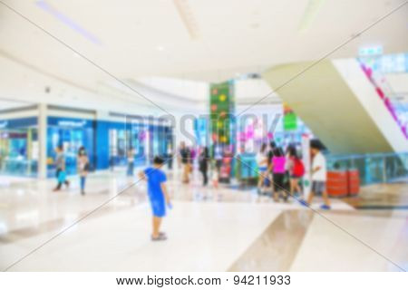 Abstract background of shopping mall shallow depth of focus.