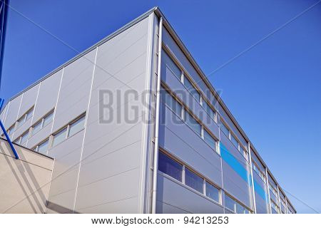 Aluminum Facade On Industrial Building