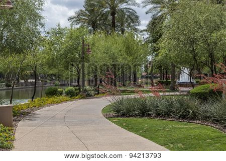 Scottsdale Arizona Waterfront District Walkway