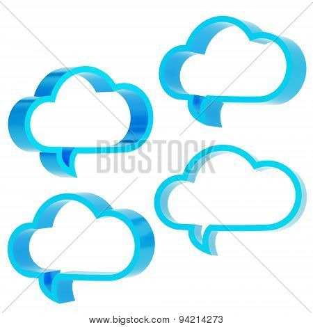 Cloud shaped text bubbles