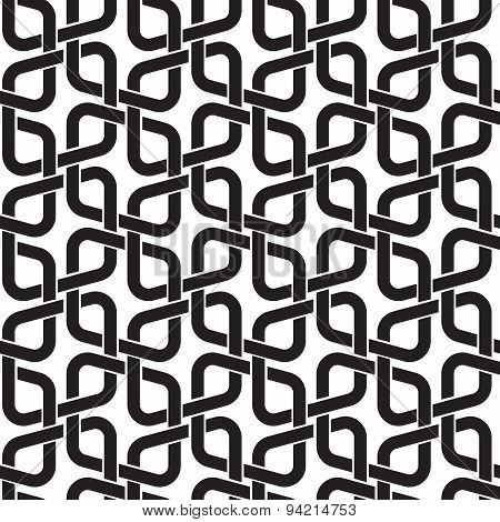 Seamless pattern in celtic knotting style