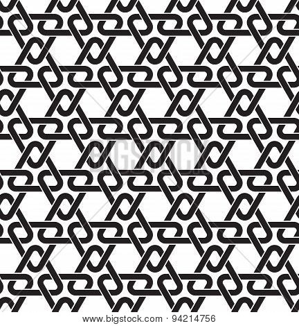 Seamless pattern of triangles in celtic knotting style