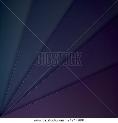 Abstract Vector Background With Dark Blue And Purple Paper Layers