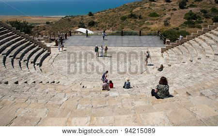 Ancient  Amphitheater Of Kourion In Limassol, Cyprus