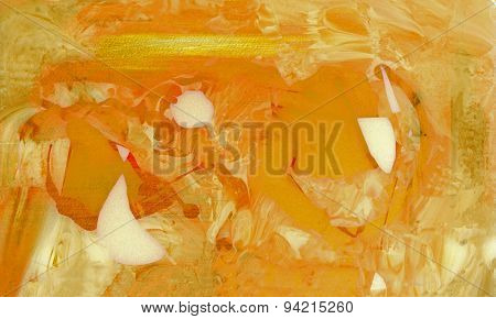 Very nice large scale Abstract painting On Glass