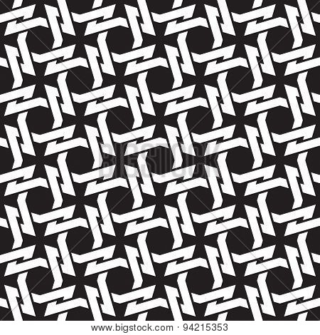 Seamless pattern of intertwined four-point thorns