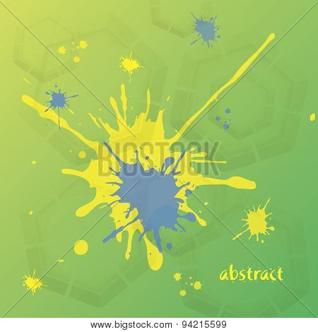 Vector Abstract Background In Yellow, Blue, And Green Color.