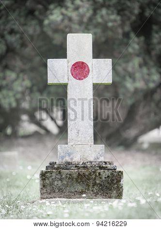 Gravestone In The Cemetery - Japan