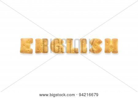 The Letter Word English Alphabet Biscuit Cracker