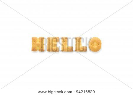 The Letter Word Hello. Alphabet  Cookie Biscuits