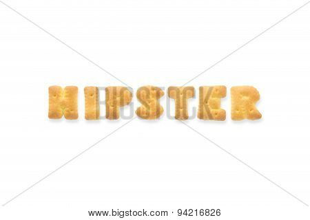 The Letter Word Hipster Alphabet  Cookie Biscuits