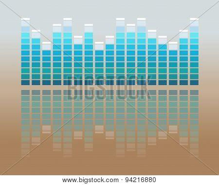 Vector Music Volume Flat Background