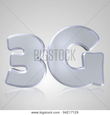 3D Text Mobile Network 3G
