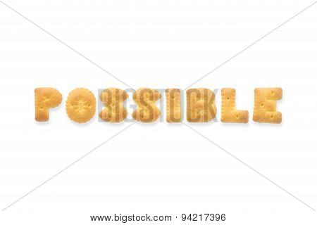 The Letter Word Possible Alphabet  Cookie Biscuits