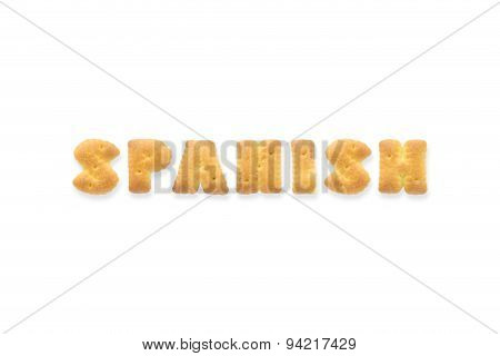 The Letter Word Spanish Alphabet  Cookie Cracker