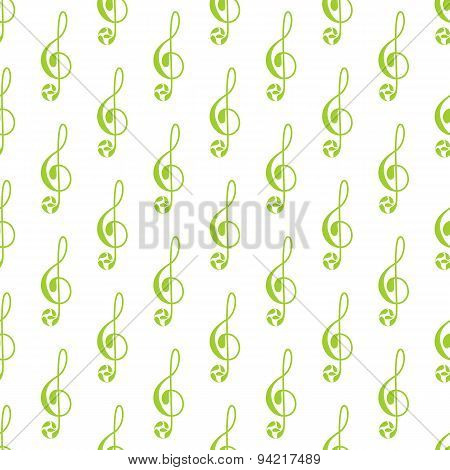 Pattern With Treble Clef