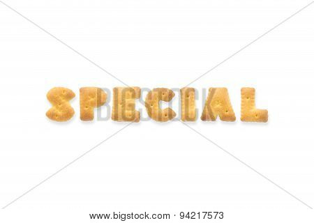 The Letter Word Special. Alphabet  Cookie Biscuits